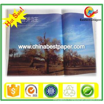 150g Papier brillant recouvert de couleur blanche