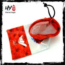 Выдвиженческая оптовая новый продукт пользовательские солнцезащитные очки мешок, мешок ткани очки, изготовленные на заказ футляр