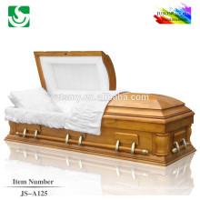 Bois de style américain haute qualité crémation cercueil pas cher