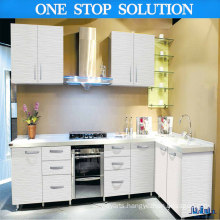 Lining Grain Modern PVC Film Kitchen Cabinets