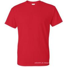 T-shirt em branco 100% do algodão dos homens da ordem