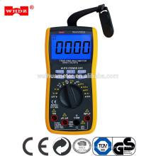 Multímetro digital con prueba de capacitancia de 20mF con pinza de prueba de corriente 600A WH5000A