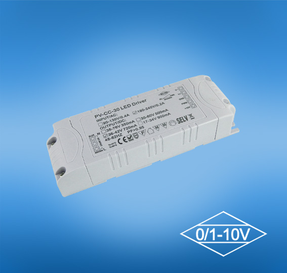 25w 0-10V Dimmable LED Driver for Downlights