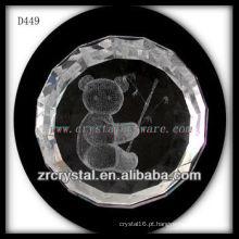 K9 3D Laser Animal Dentro Círculo De Cristal