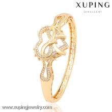 51323 brazalete en forma de corazón de las mujeres del color oro de la manera 18k de Xuping para los regalos