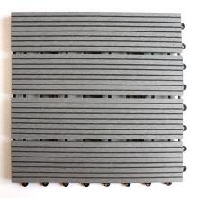 DIY Wood Plastic Composite Roof Tile Balcony Terrace Solid Composite Wood Interlocking Deck Tile