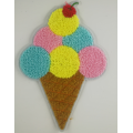 Multicolor Icecream 2019 Chenille Patch voor kinderkleding