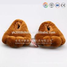 Zapatillas con calefacción por microondas, zapatillas de felpa de felpa caliente