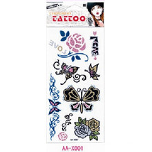 Etiqueta engomada hermosa del tatuaje del cuerpo temporal del polvo del brillo (diseño de la fantasía)