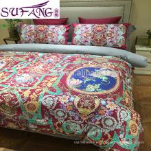 juego de cama estampado digital egyption de tela de algodón