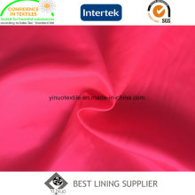 100 Polyester 210t Taffeta 63D*75D High Quality Customized for Brand Garment