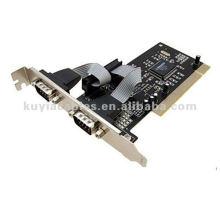 Carte PCI à carte série Carte Rs 232 PCI RS232 Port série à deux ports COM Carte PCI