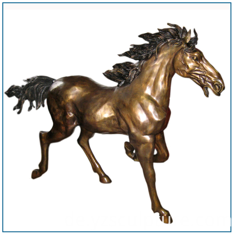 Life Size Brass Horse Statue