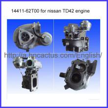 Excellent turbocompresseur Td42 Engine Ht18 14411-62t00 pour Nissan