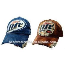 miller lite baseball caps metal bottle openner cap
