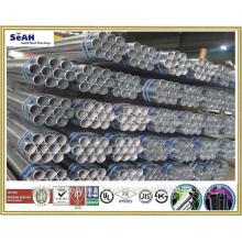Hasta tubo de andamio de 219.1mm según JIS, KS, ASTM .. o tubo de acero galvanzed sumergido caliente, tubo de GI