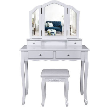Factory white color wooden dressing table designs