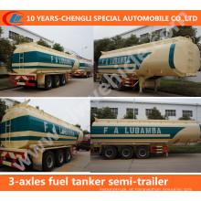 Reboque do caminhão do petroleiro do combustível de 3-Axles 42cbm