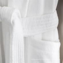 Roupão de banho das mulheres brancas do algodão da qualidade 100 do hotel da cor