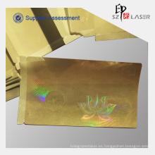 50 micrones PET holograma Recubrimiento las etiquetas engomadas adhesivas para tarjetas de Pvc