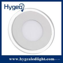 25W Habitação interior super impermeável led rodada luz do painel de vidro
