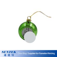 Wholesale 6cm Sublimation Xmas Decorating Balls Blank Printable Plastic Christmas Tree Ornament