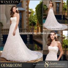 custom popular newest hot sell high quality puffy tiered ruffled bridal gown wedding dress