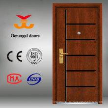 El último diseño Alta duradera de madera Exterior puerta de marco de acero