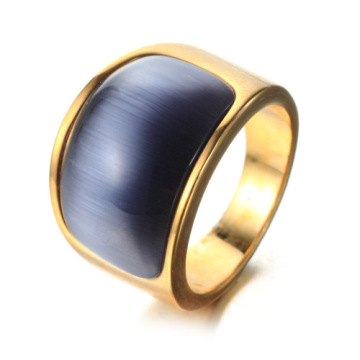 Men Dance Gold Big Gemstone Ring