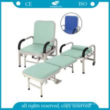 AG-AC001 Chaise d'accompagnement pliante Chaise pliable en métal en option