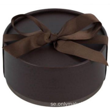 Fashion Style Cylinder With Ribbon Bow Presentförpackning