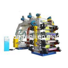 8 цветов флексографская печатная машина