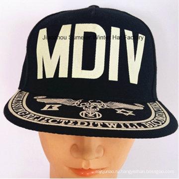 Флокирование печати Cap Hip-Hop Cap Городские модные головные уборы