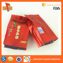 Food grade side gusset laminated vacuum bag for tea packaging