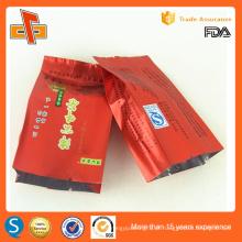 Gusset de lado alimentar laminado saco de vácuo para embalagem de chá
