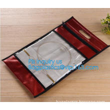 swimwear PVC vinyl Bag with slider zipper, frosted pvc zipper envelop document storage pouch, Fashion PVC slider zipper PVC Smal