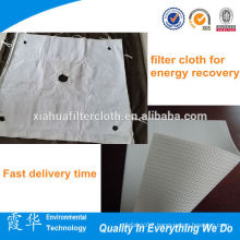 High quality edge coated polyester oil press filter cloth
