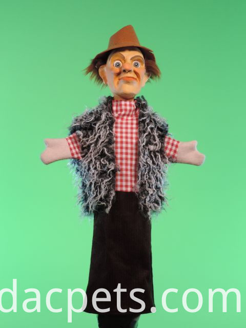 pirate hand puppet with vinyl head for theater