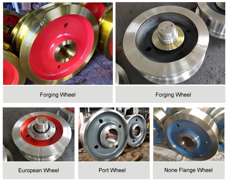 Forging steel crane wheels