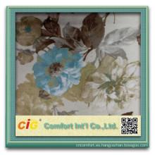 Queman casa suavísimo terciopelo tela tapicería de la tela para el sofá