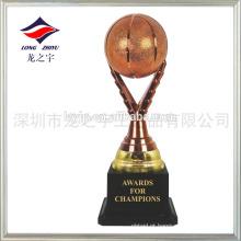 Troféu de basquete em branco copo de troféu de basquete plástico de basquete