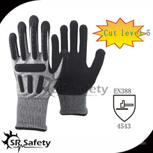 SRSAFETY high impact protective gloves/impact gloves