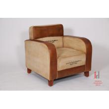 Canapé imprimé en cuir et toile