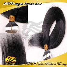 Горячий продавать 2014!! необработанные наращивание волос клейкой ленты