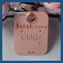 Customized Earring Display Card with Metal Eyelet