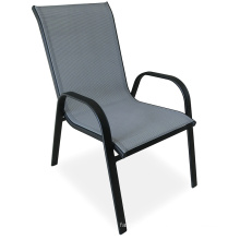 Hot Sale High Quality Teslin Steel Frame Furniture Outdoor Furniture Stacking Chair Garden Set
