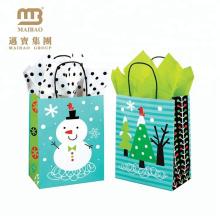 High Quality Low Cost Custom Sizes Logo Printing Small Gift Shopping Kraft Paper Christmas Bag