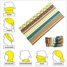 Bufanda personalizada multifuncional de tubo de microfibra de estilo sin costuras