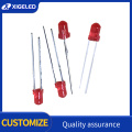 3mm red-hair-red short foot high power lamp beads