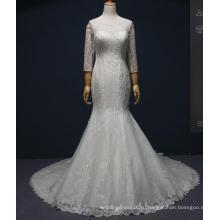 С Длинным Рукавом Бисером Русалка Свадебные Свадебные Платья